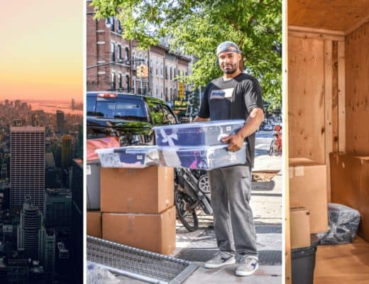 The Ultimate Easy Guide to Moving Out Of NYC: 5 Simple Steps | To many, living in New York City sounds like a dream. But after almost a decade, I realized I had to get out. Here's why (and how) I did it, and how you can too. Practical tips for moving prep, how to research moving companies, what to do on the big day, and how to handle this big life change. #moving #nyc #uhaulpackingtips #newyorkcity #uhaultips