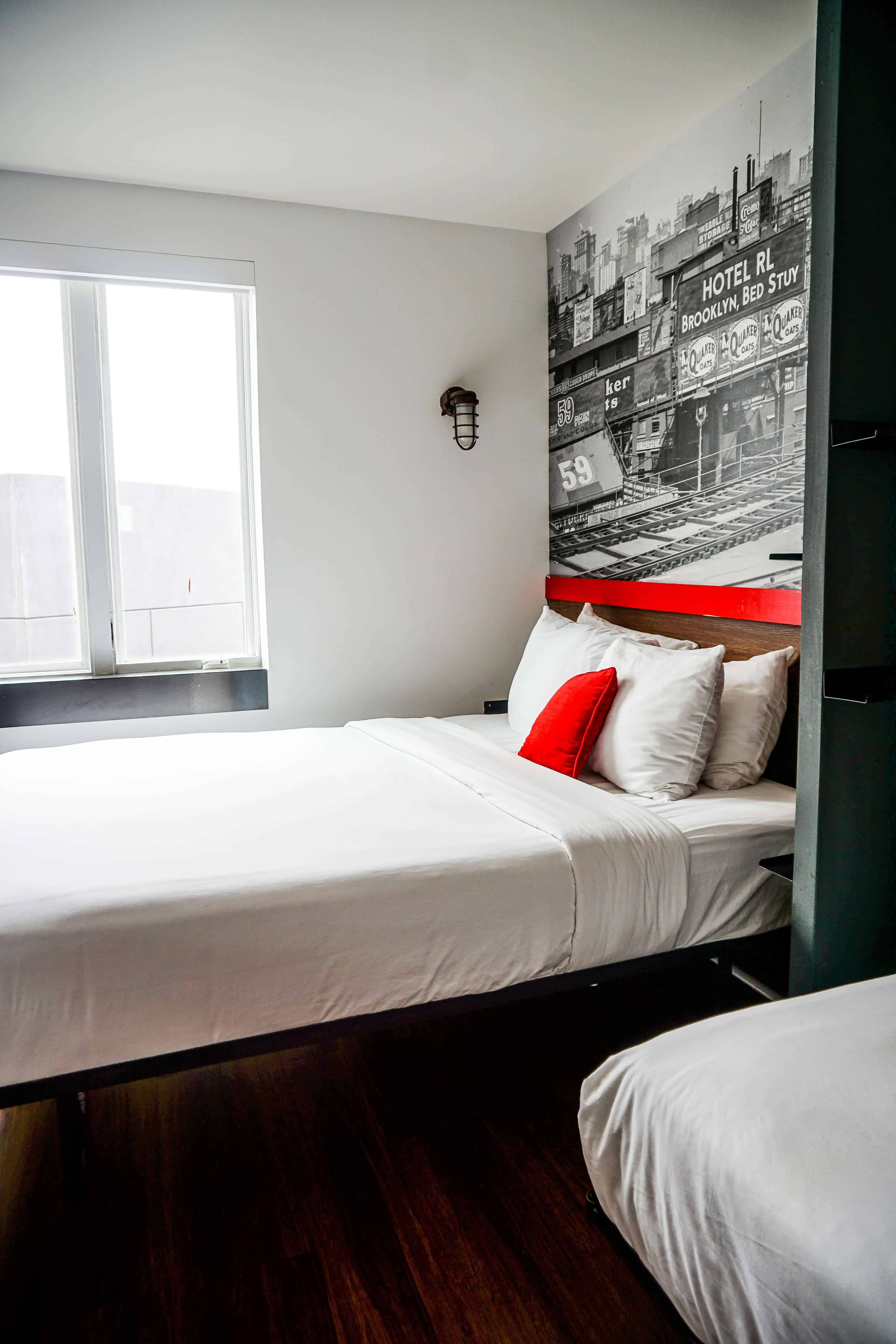 Looking for the best boutique hotel in Brooklyn, New York? Take a peek inside Hotel RL Brooklyn & find out why you should book this community-focused hotel! #NYC #NYChotels #hotels #travel #USAtravel #brooklyn #bushwick